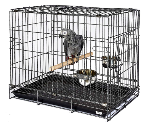metal bird travel cage
